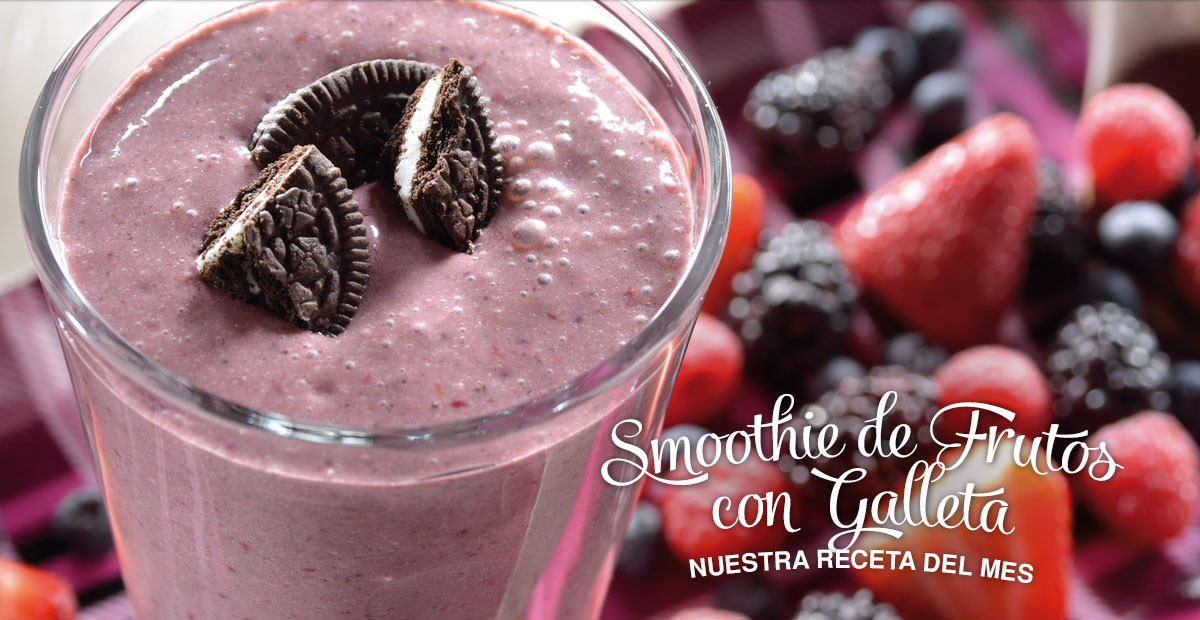 Smoothie de Frutos Rojos con Galleta