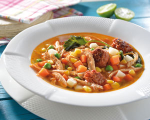 Vegetable and Chorizo Soup with Chipotle