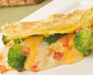 Broccoli and Bacon Omelet